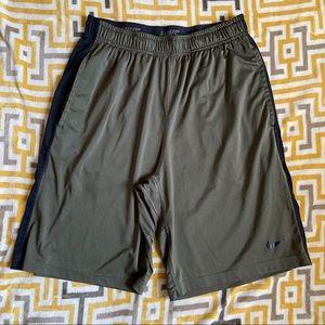Nike Mens Olive Green Athletic Shorts Medium